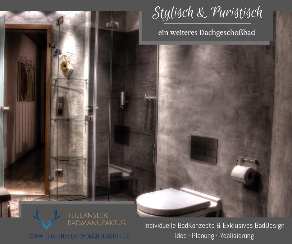 Stylisches Dachgeschoss Badezimmer Tegernseer Badmanufaktur